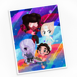 The Crystal Gems Print – Available in Multiple Sizes