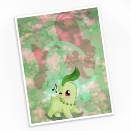 Chikorita Print – Available in Multiple Sizes!