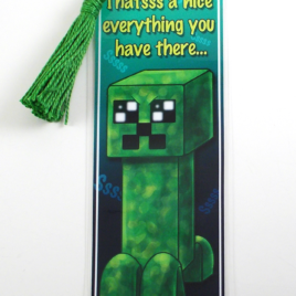 Creeper 2″x6″ Tasseled Bookmark