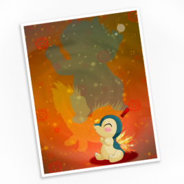 Cyndaquil Print – Available in Multiple Sizes!