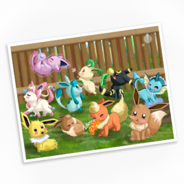 Eeveelutions at Play Print – Available in Multiple Sizes!