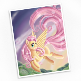 Fluttershy – Gentle Heart Print – Available in Multiple Sizes!