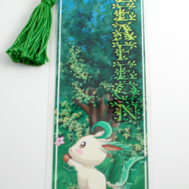 Leafeon 2″x6″ Tasseled Bookmark