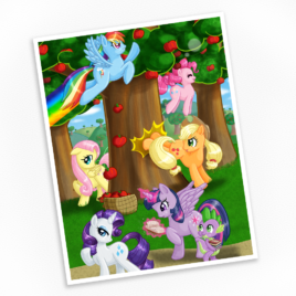 Mane Six Print – Available in Multiple Sizes!