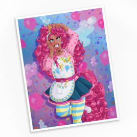 Humanized Pinkie Pie Print – Available in Multiple Sizes!