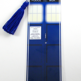 TARDIS 2″x6″ Tasseled Bookmark
