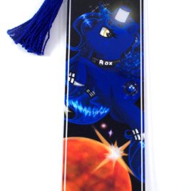 Tardis Pony 2″x6″ Tasseled Bookmark