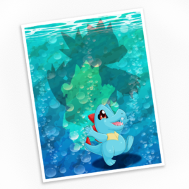 Totodile Print – Available in Multiple Sizes!
