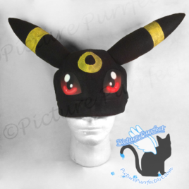 Umbreon Fleece Hat with Glow in the Dark Rings