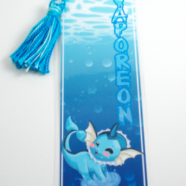 Vaporeon 2″x6″ Tasseled Bookmark