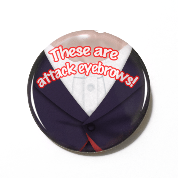 Twelfth Doctor These Are Attack Eyebrows 15 Pinback Or Magnet