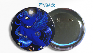 """Custom Buttons 3.5"""" Pinack Button Example"""