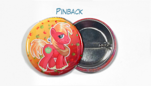 "Custom Buttons 1.5"" Pinback Button Example"