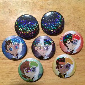 "1.5"" Holographic Pins made for Just Dreaming Designs http://facebook.com/justdreamingdesigns"
