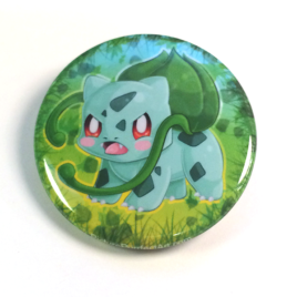Bulbasaur 1.5″ Pinback Button or Magnet