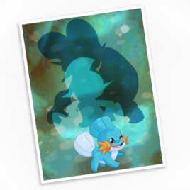 Mudkip Print – Available in Multiple Sizes!