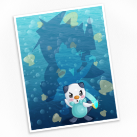 Oshawott Print – Available in Multiple Sizes!