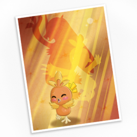 Torchic Print – Available in Multiple Sizes!