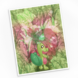 Treecko Print – Available in Multiple Sizes!