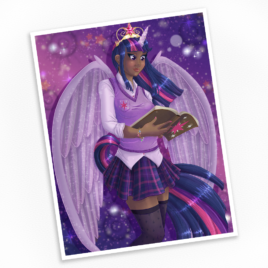 Humanized Twilight Sparkle Print – Available in Multiple Sizes!