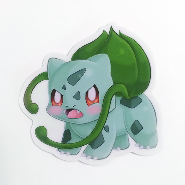 bulbasaur 2 vinyl sticker picture purrfect art