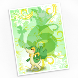 Snivy Print – Available in Multiple Sizes!