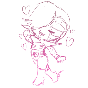Itty Bitty Chibi sketch example