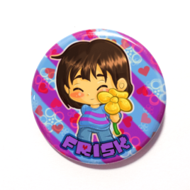 A cute chibi version of Frisk drawn by Camie M. Anderson
