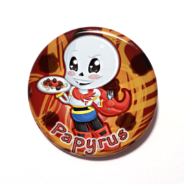A cute chibi drawing of Papyrus from Undertale by Camie M. Anderson